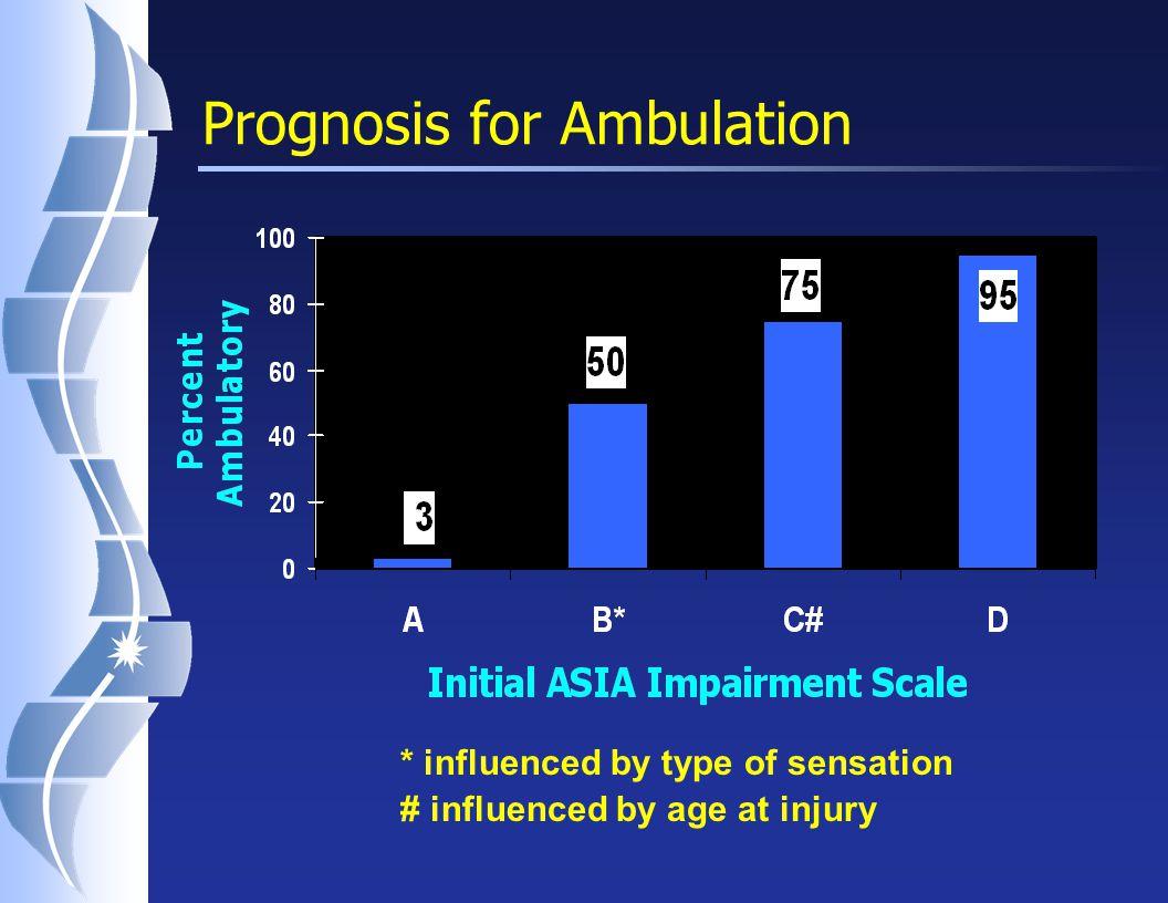 Ambulation Potential (for AIS B) N Don't WalkWalk B1 (No pin)18162 B2 (Pin)918 Total271710 Crozier et al.