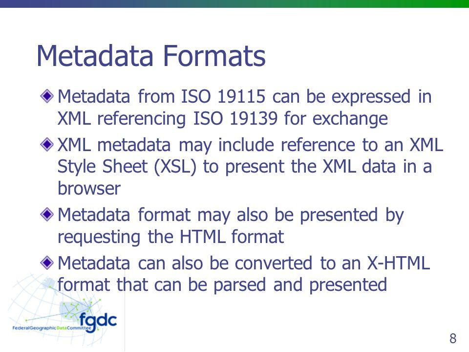 19 metadata catalog Portal map viewer metadata data form entry XML upload search map services