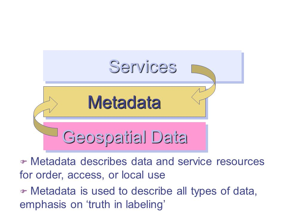 Services Discovery Access Processing F This may be made via static files on ftp or via web services.