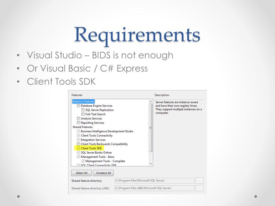 Starting Out Target Framework 3.5 (Advanced compile options) Sign the assembley Add References (Program file(x86)/ /100/sdk/Assemblies) o Microsoft.SqlServer.DTSPipelineWrap o Microsoft.SqlServer.DTSRuntimeWrap o Microsoft.SqlServer.ManagedDTS o Microsoft.SqlServer.PipeLine Host