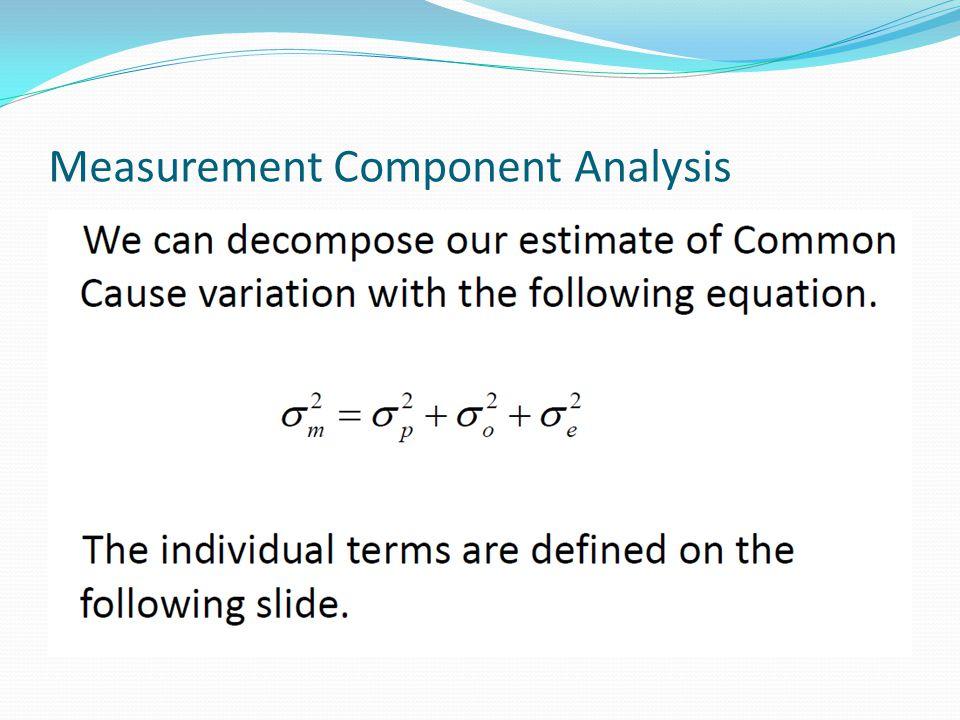 Measurement Component Analysis
