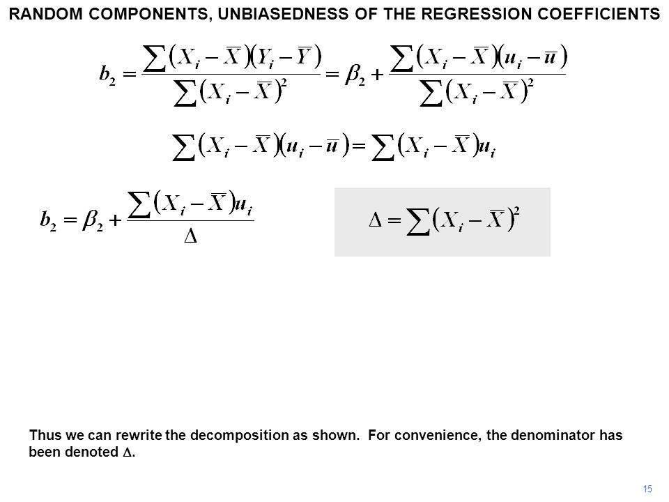 15 Thus we can rewrite the decomposition as shown.