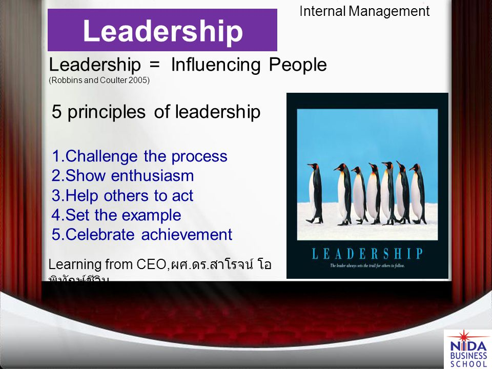 Internal Management LeadershipEmpowermentStrategy Human Resources Unionization Focus must be global, not local.