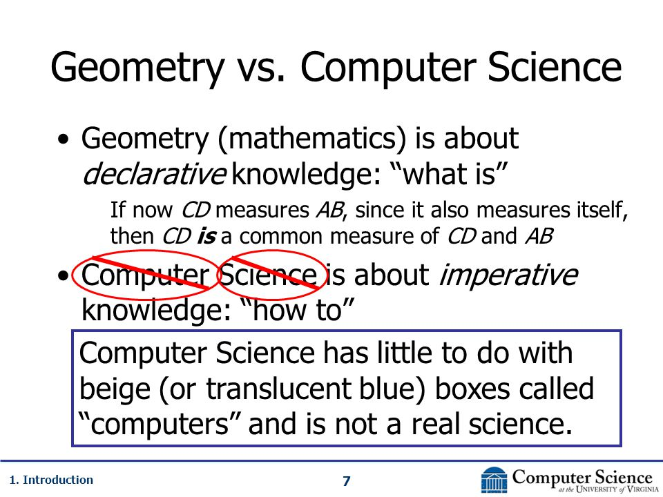 7 1. Introduction Geometry vs.
