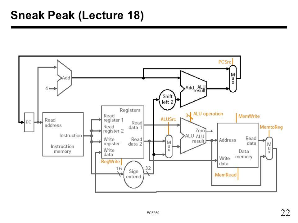 22 ECE369 Sneak Peak (Lecture 18)