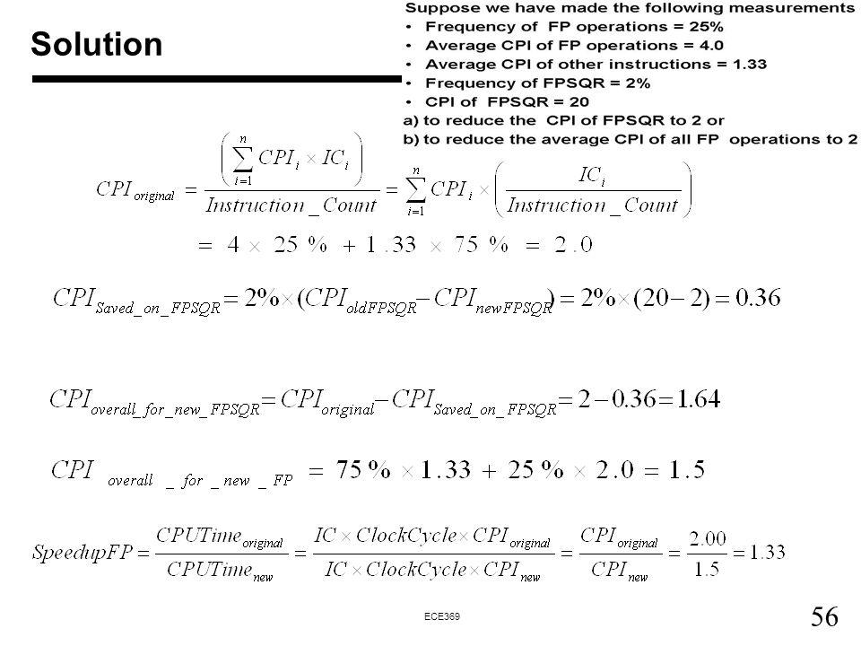 56 ECE369 Solution