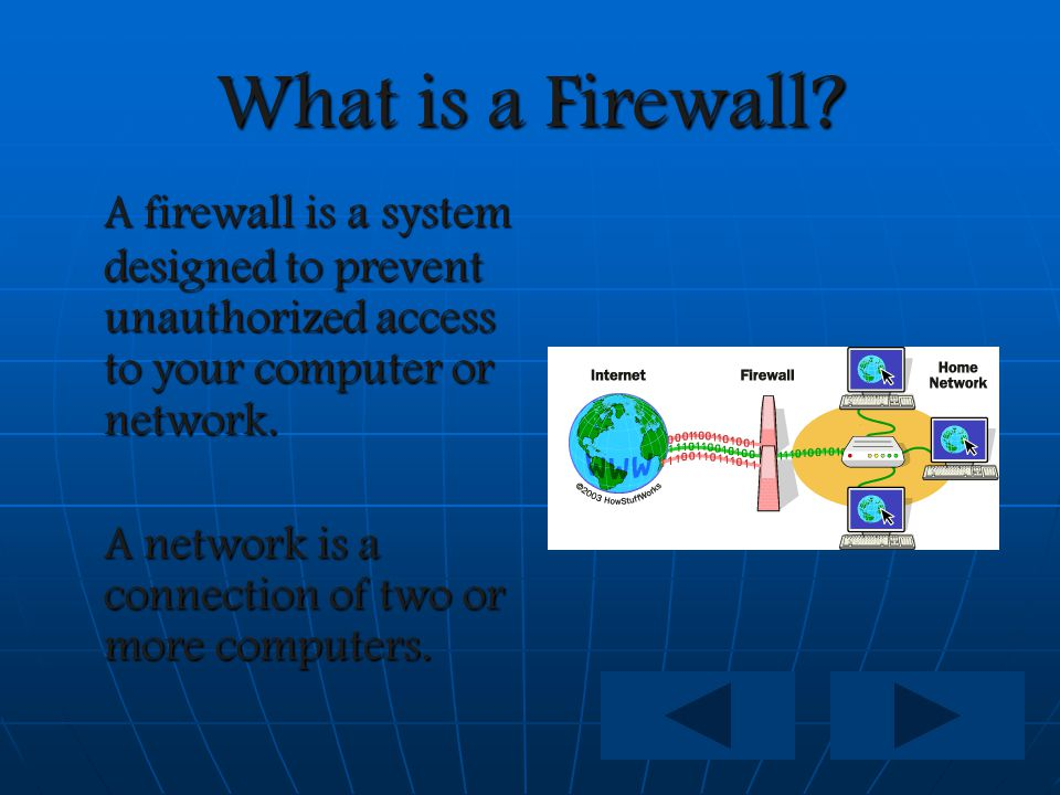 **First Things First** **First Things First** InstallingAFirewall