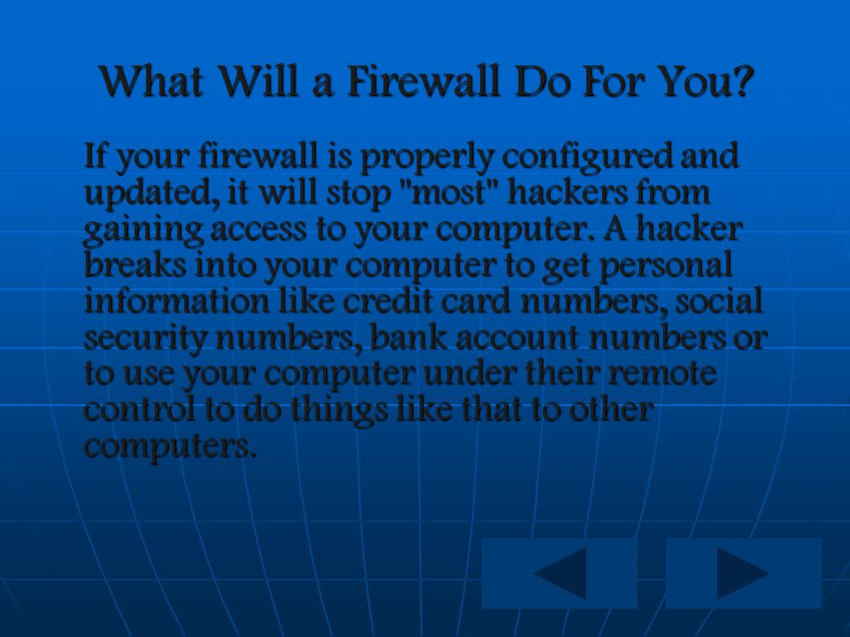 Who Needs A Firewall.