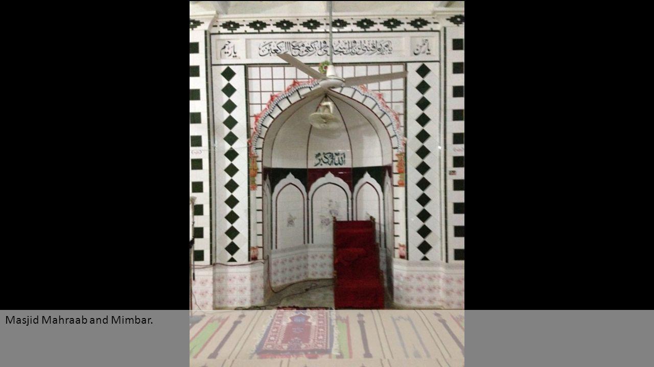 Masjid Mahraab and Mimbar.