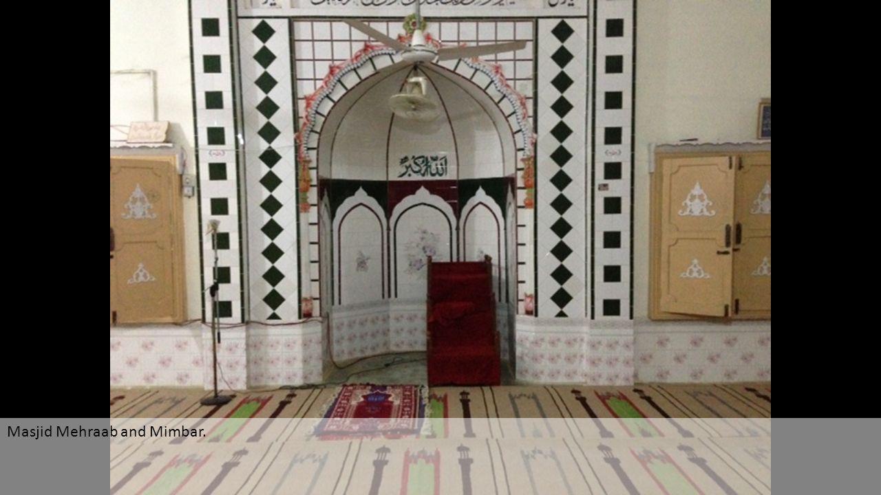 Masjid Mehraab and Mimbar.