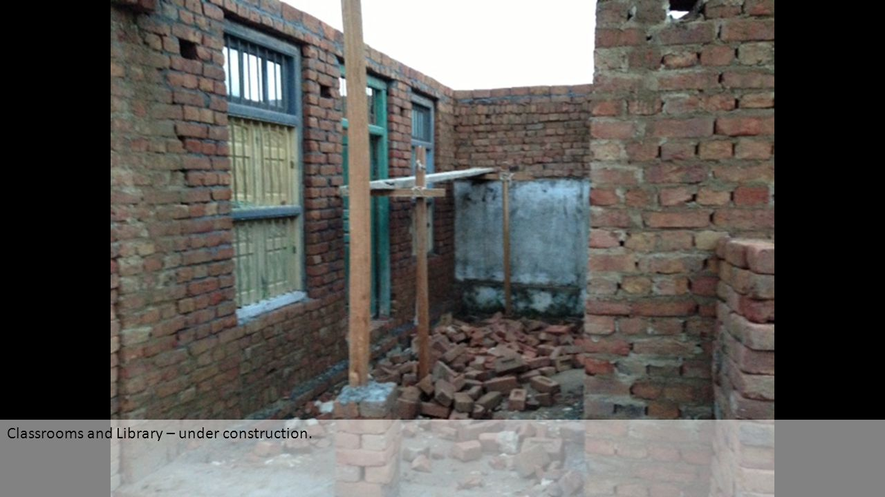 Classrooms and Library – under construction.