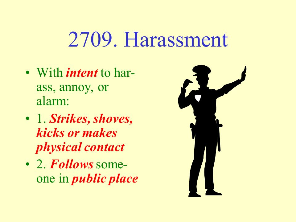 Harassment and Stalking 2709