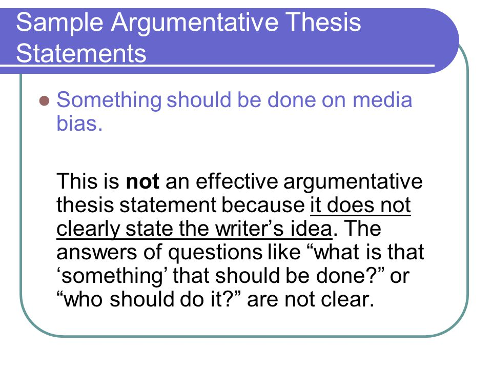 Define A Thesis Statement