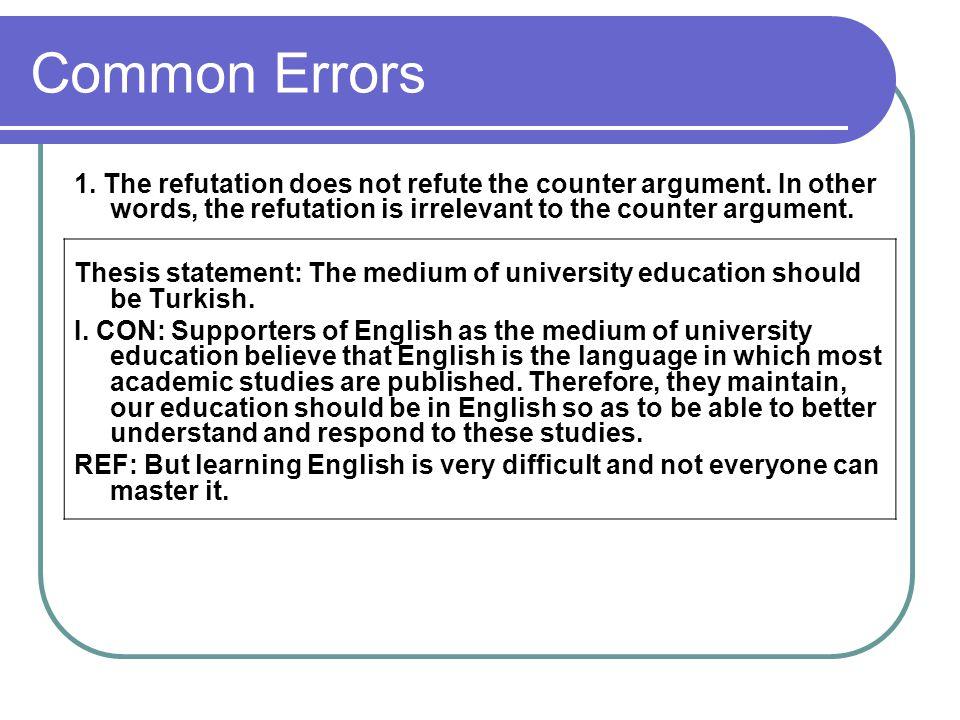 Refutation Essay Example