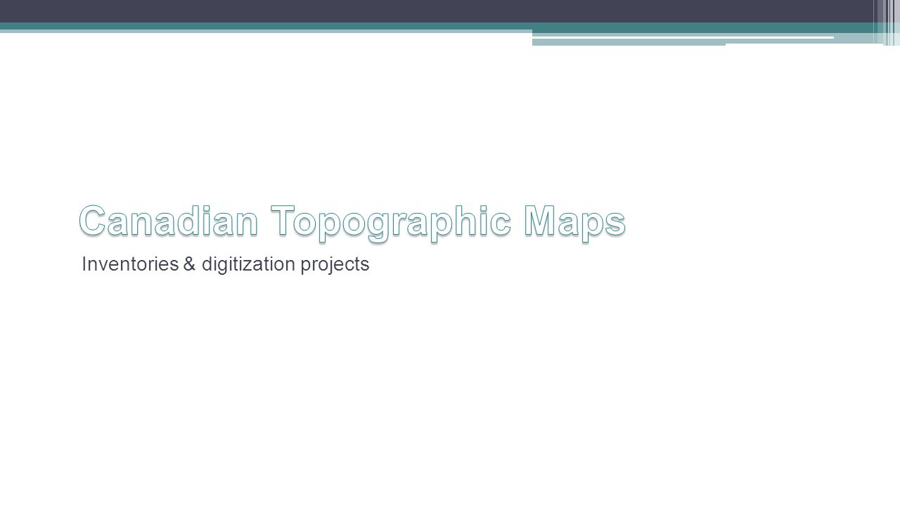 Inventories & digitization projects