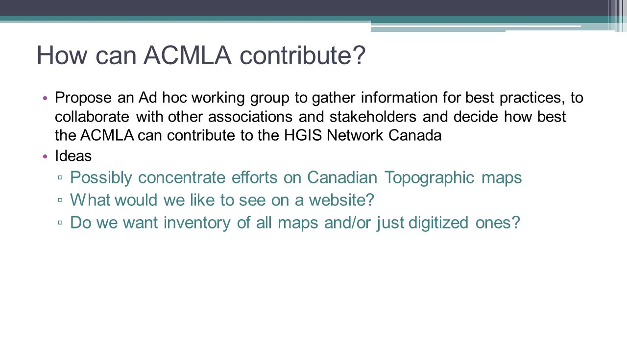 How can ACMLA contribute.