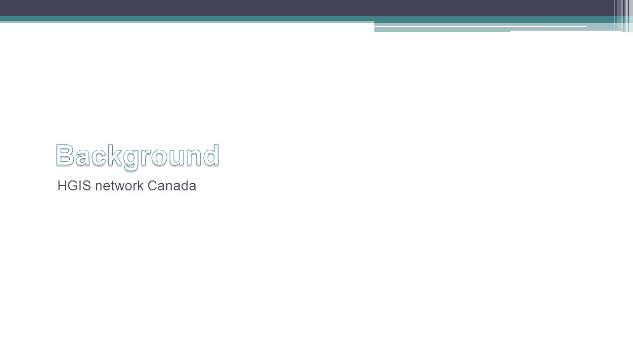 HGIS network Canada
