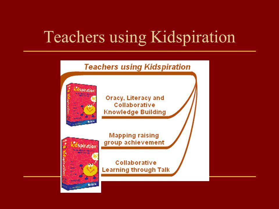 Teachers using Kidspiration