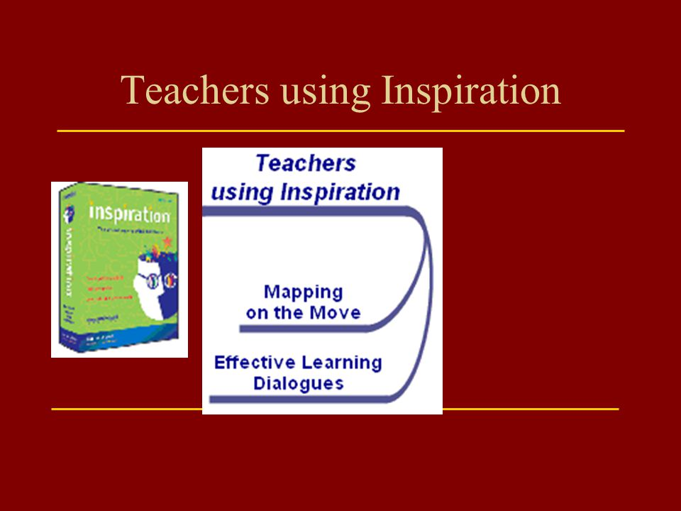 Teachers using Inspiration
