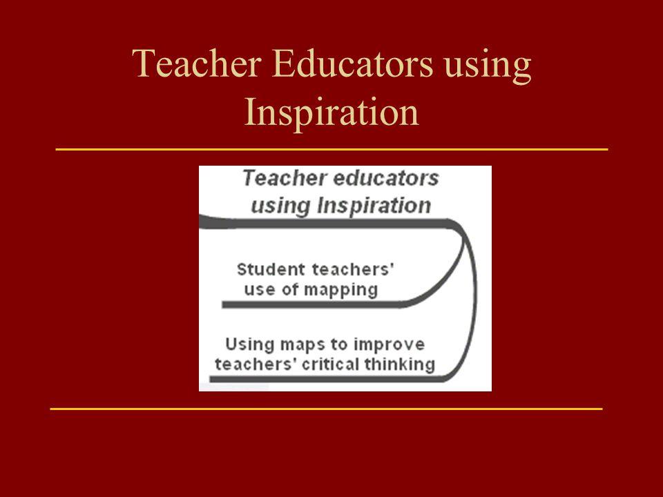 Teacher Educators using Inspiration