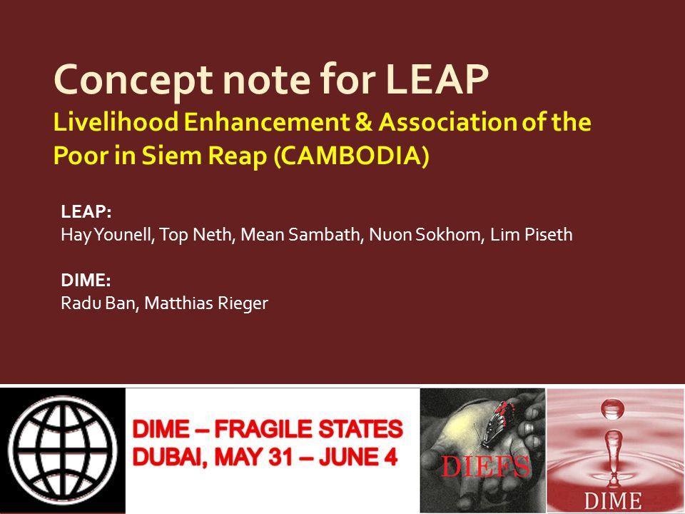 Project site Siem Reap Phnom Penh