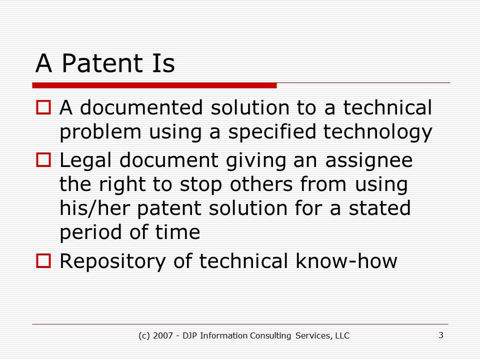 (c) 2007 - DJP Information Consulting Services, LLC 24 (c) 2007 - DJP Information Consulting Services, LLC 24 Contact Information  Dr.