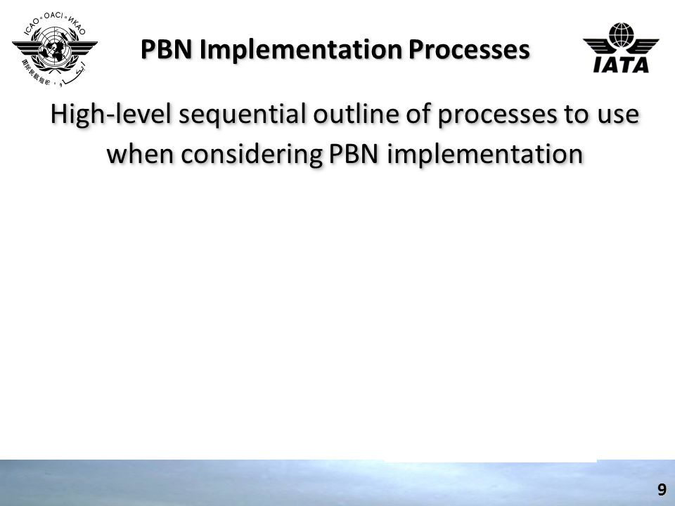 PBN Implementation Processes High-level sequential outline of processes to use when considering PBN implementation 9