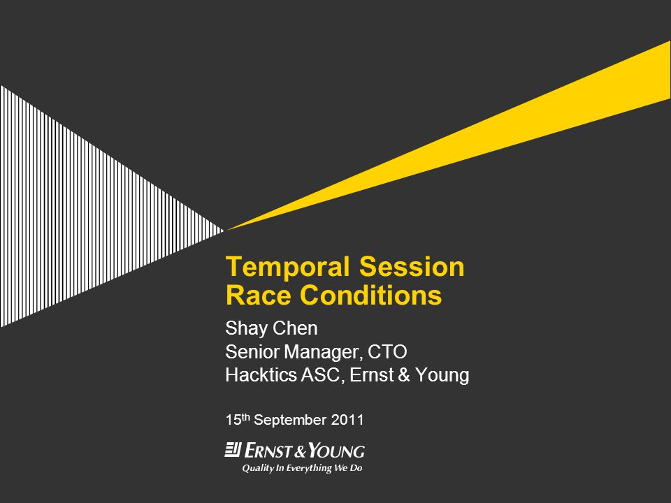 Temporal Session Race Conditions Page 42 Additional Resources, Cont.