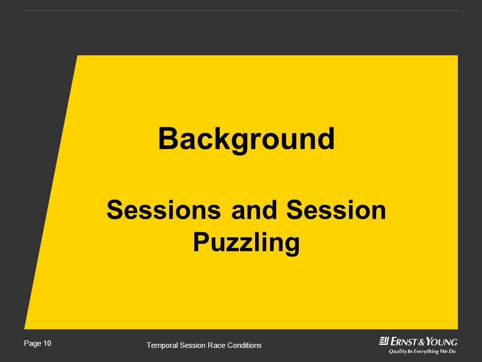 Page 10 Background Sessions and Session Puzzling