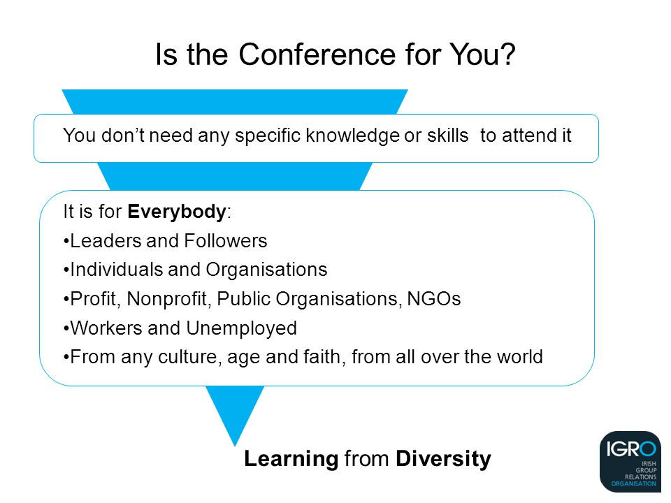 Learning from Diversity Is the Conference for You.