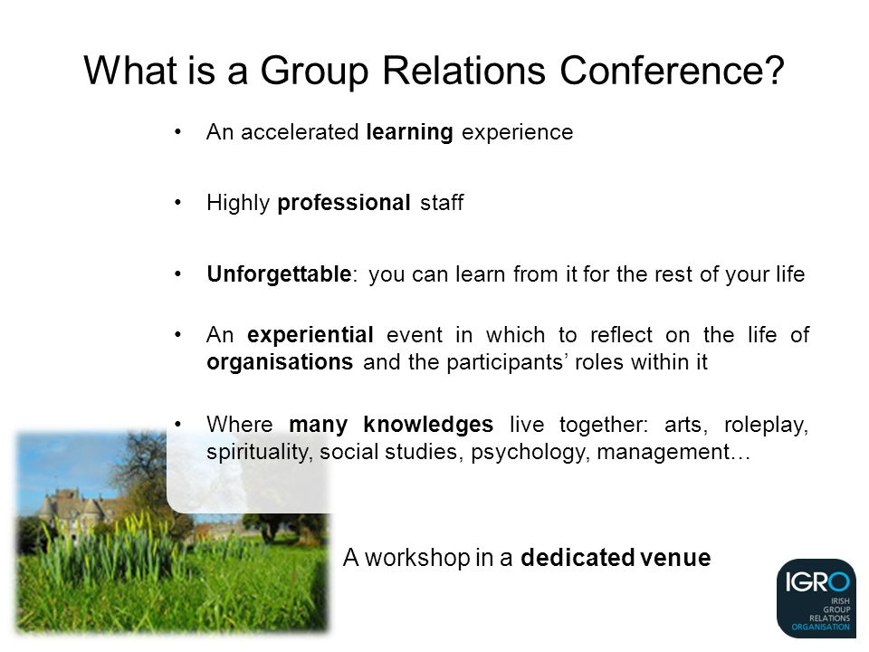 What is a Group Relations Conference.
