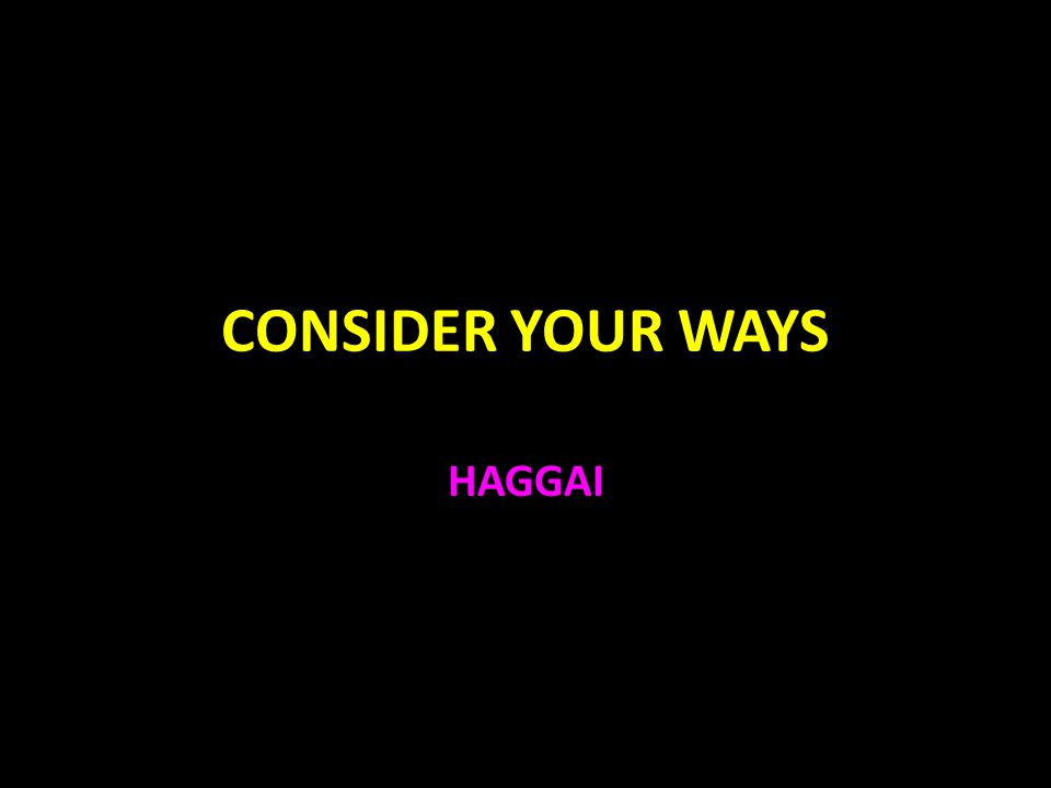 Haggai Haggai was a prophet at the same time as Zechariah Ezra 5:1-2, 6:14 Cyrus gave the rule that the Jews could return to Judah 539 B.C.