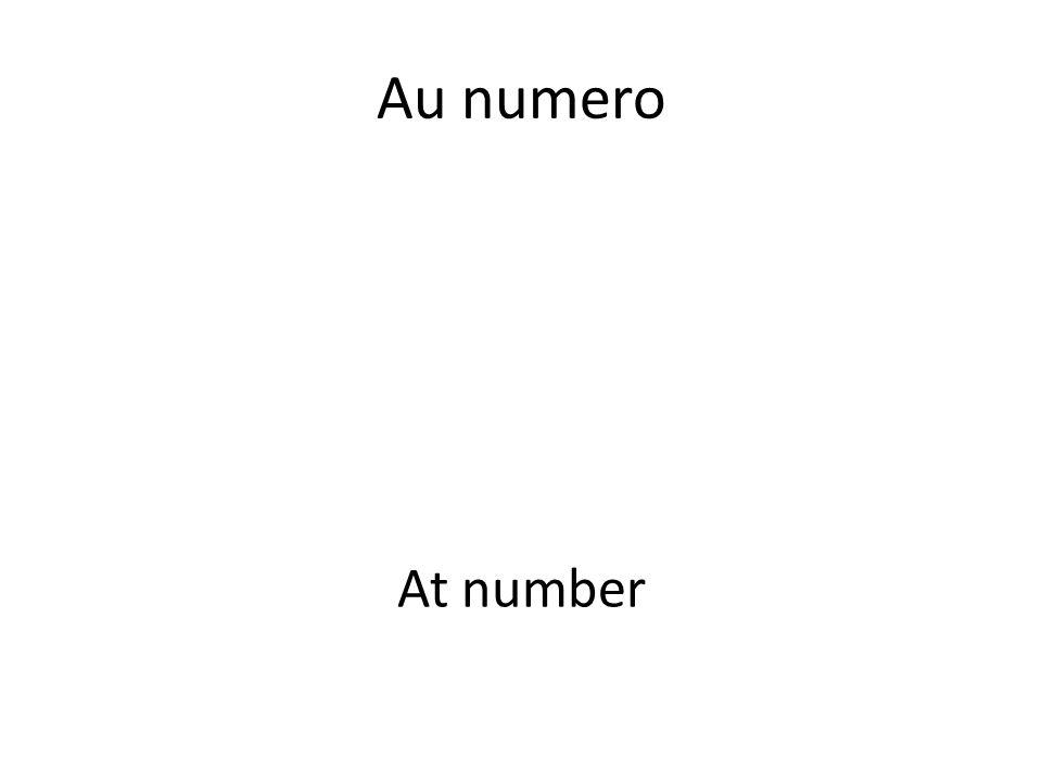 Au numero At number