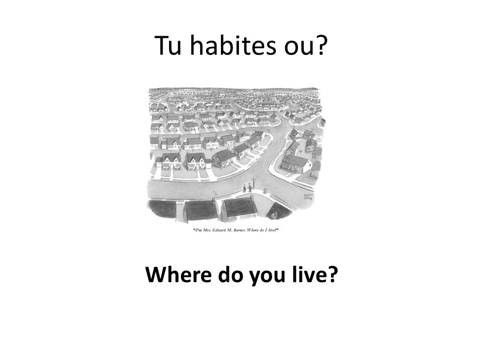 Tu habites ou Where do you live