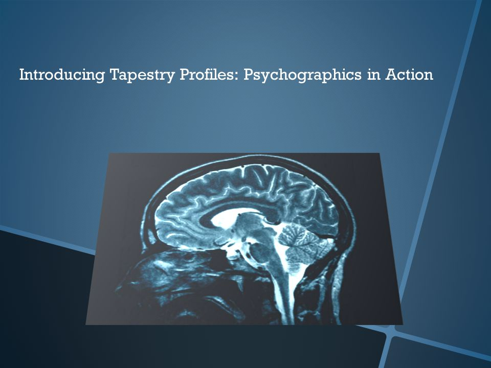 Introducing Tapestry Profiles: Psychographics in Action