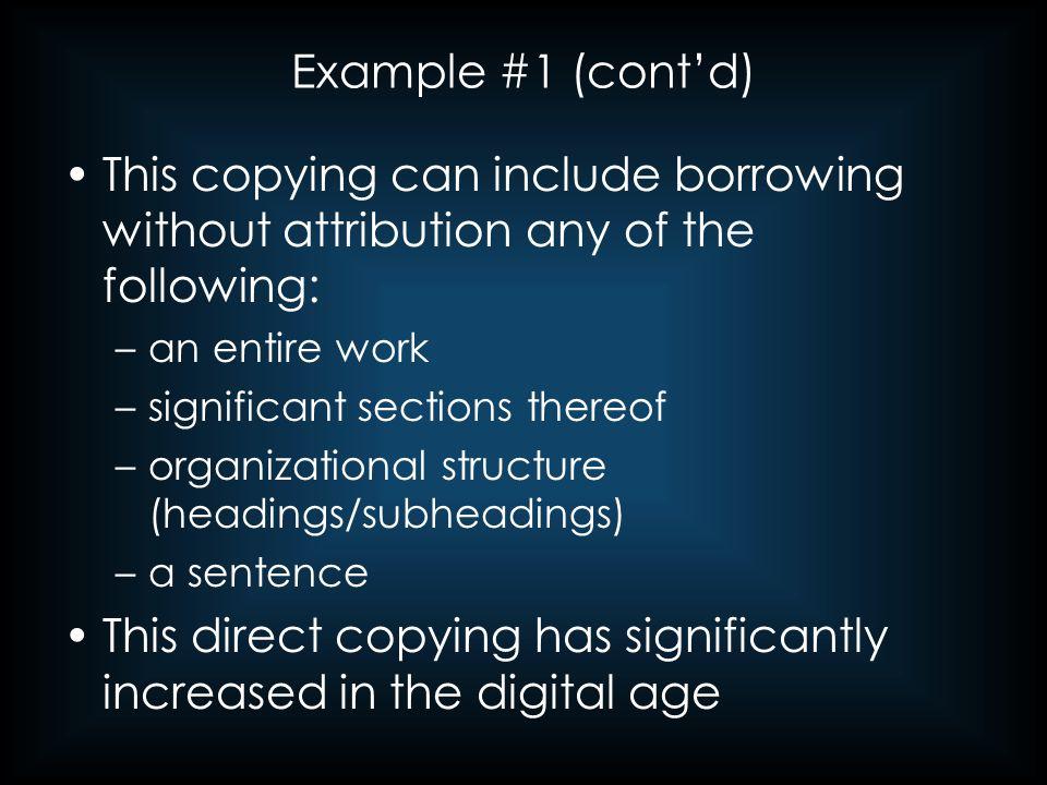 Example #5 (cont'd) Original Source: Glen S.
