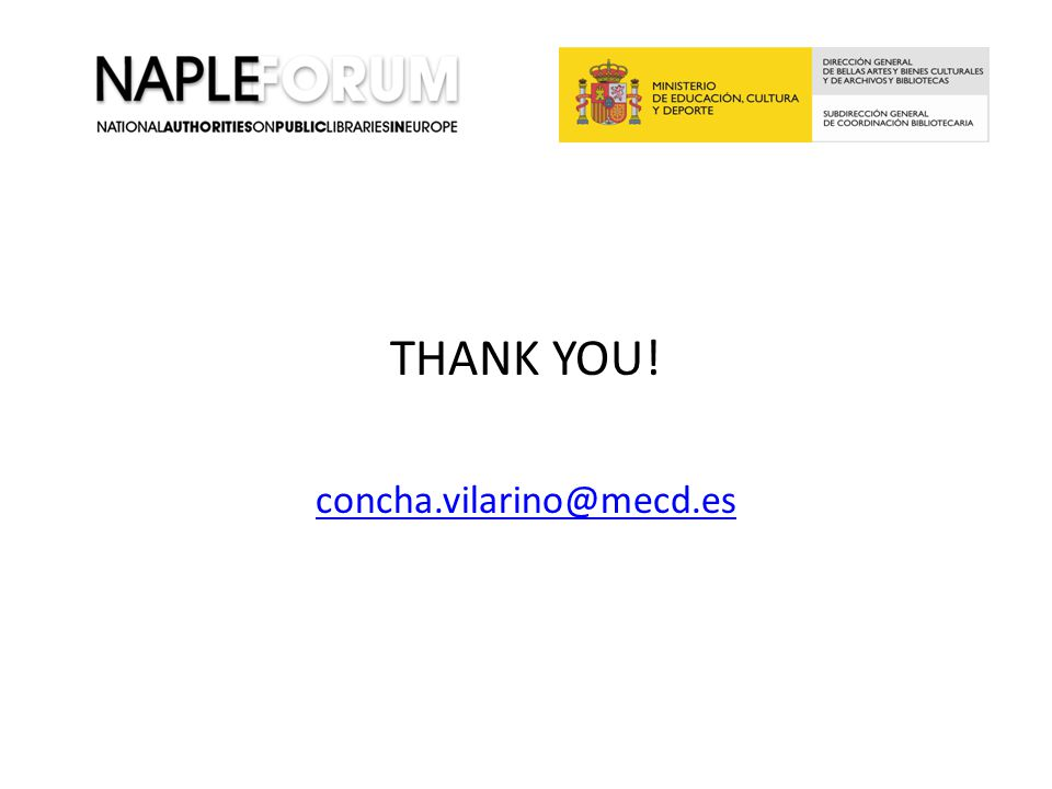 THANK YOU! concha.vilarino@mecd.es