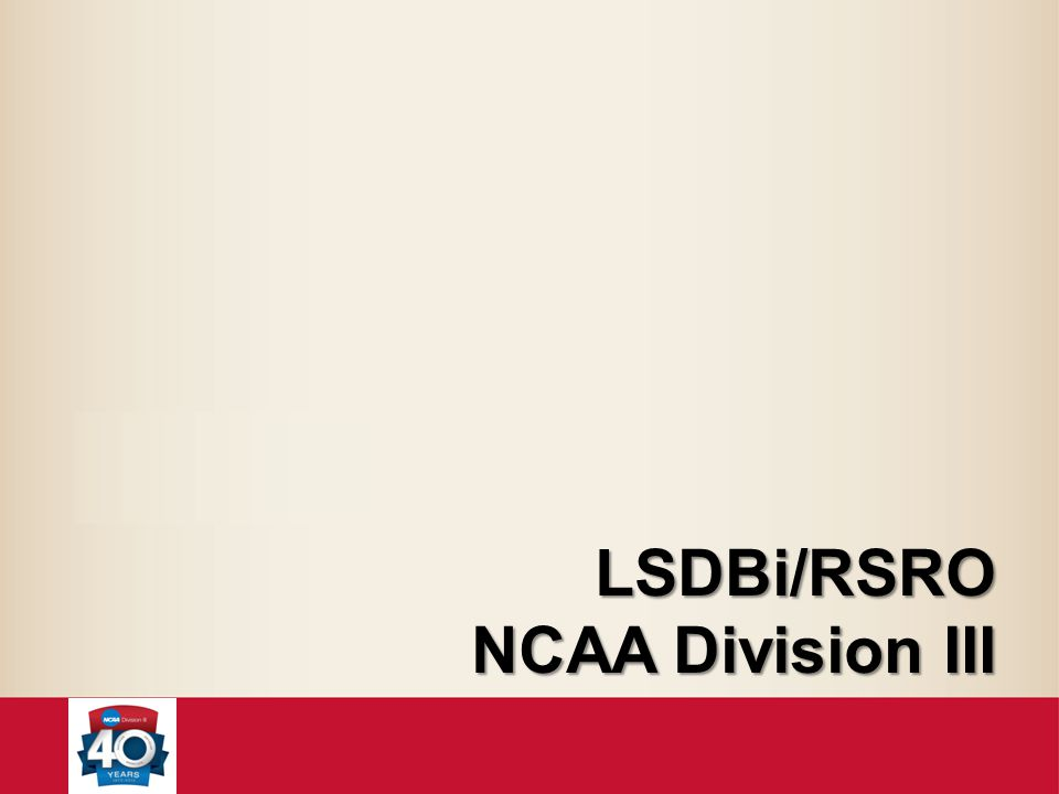 LSDBi/RSRO NCAA Division III