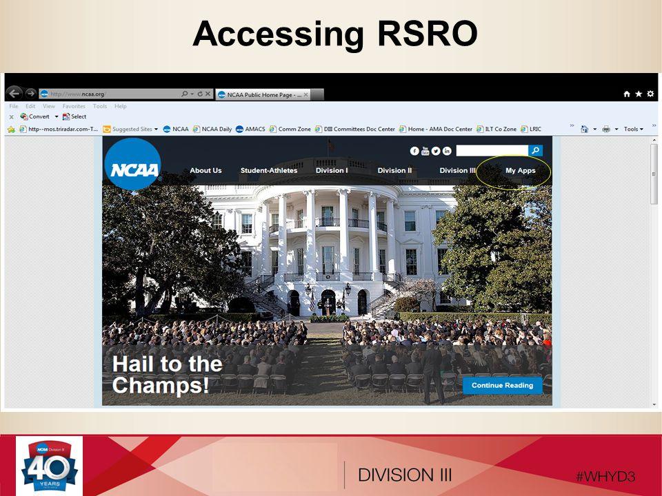 Accessing RSRO