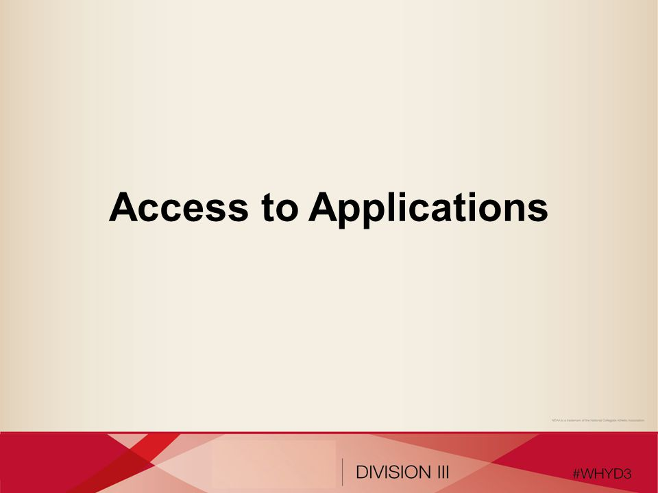 Access to Applications