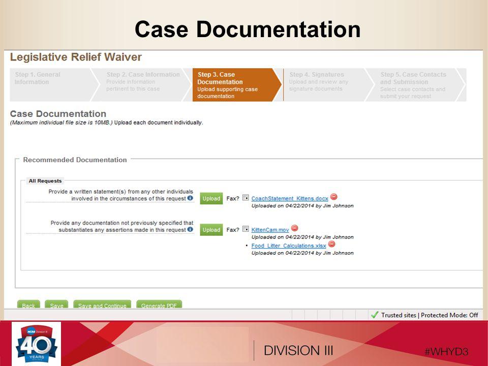 Case Documentation
