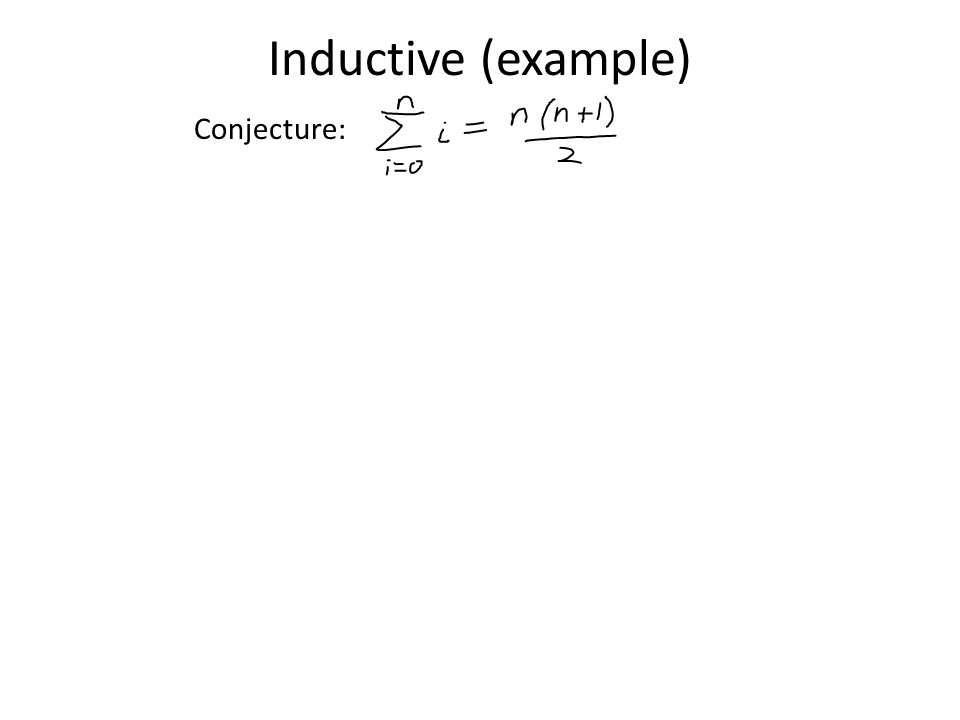 Inductive (example) Conjecture: