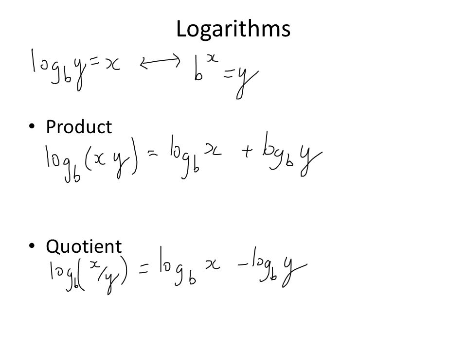 Logarithms Product Quotient