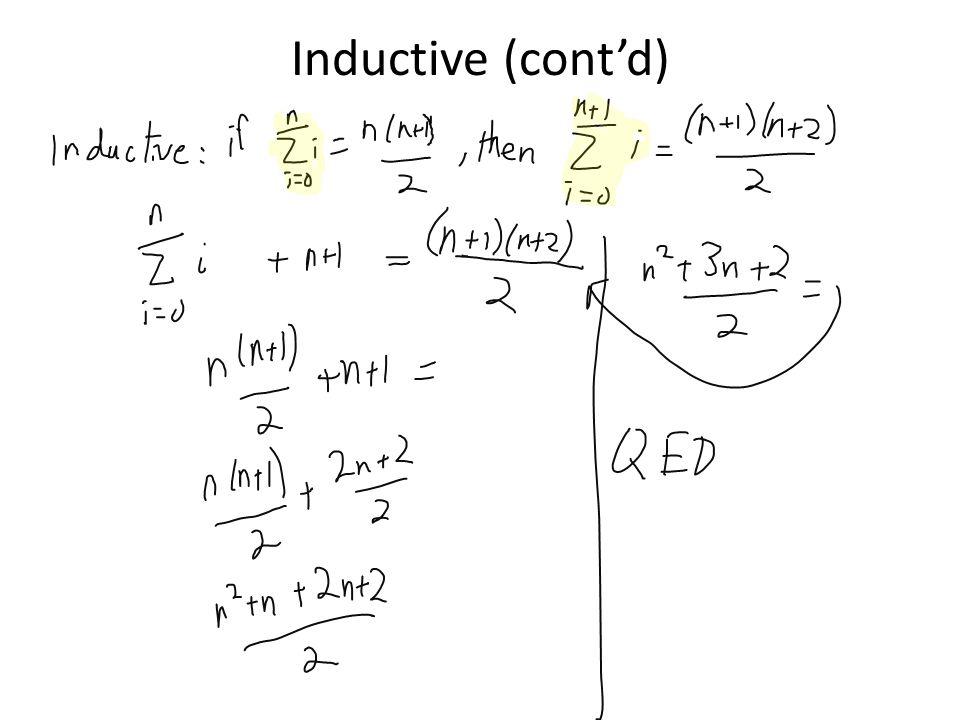 Inductive (cont'd)