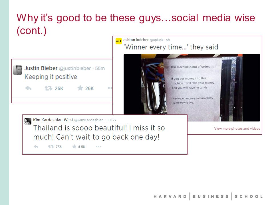 Why it's good to be these guys…social media wise (cont.)