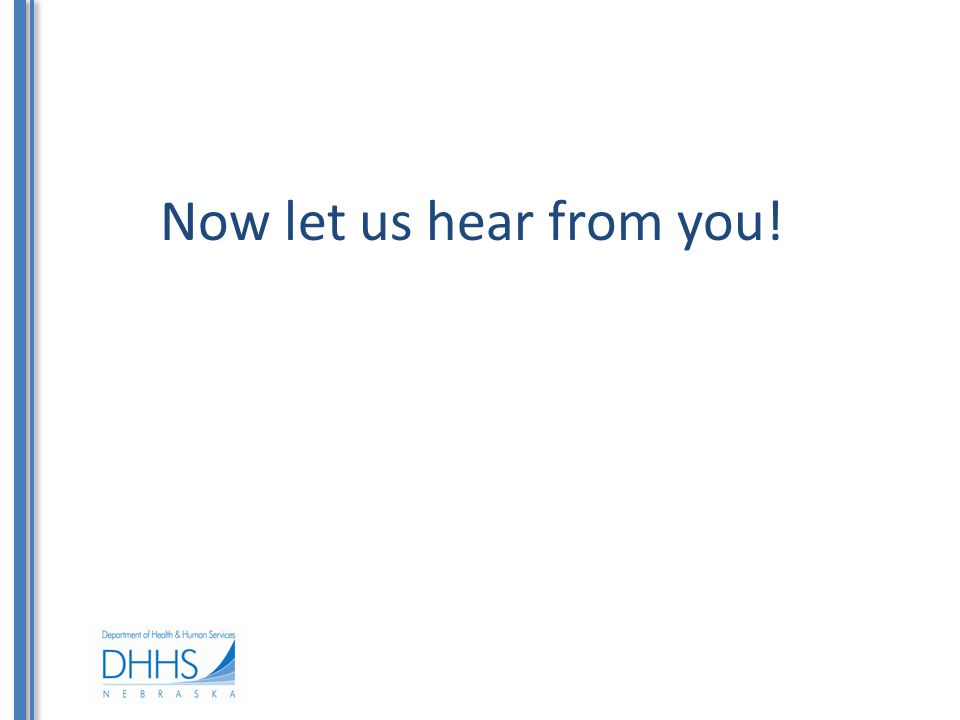 Now let us hear from you!