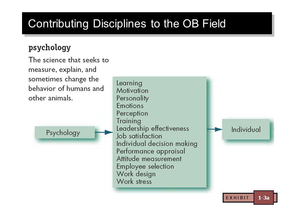 Contributing Disciplines to the OB Field E X H I B I T 1-3a