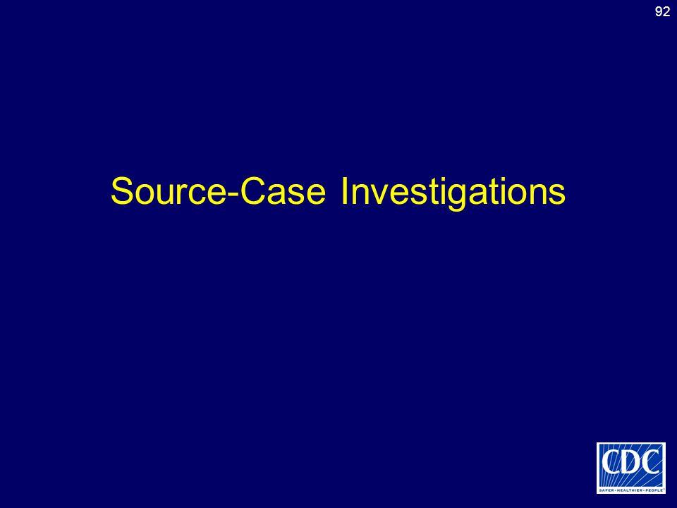 92 Source-Case Investigations