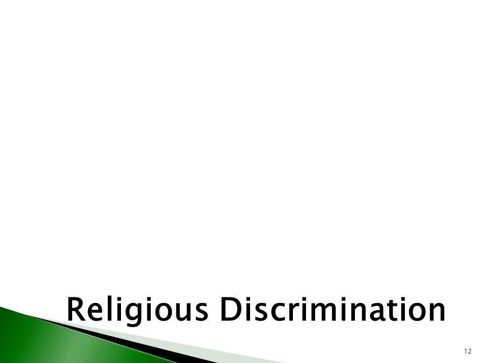12 Religious Discrimination