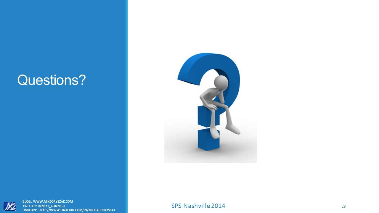 SPS Nashville 2014 Questions.